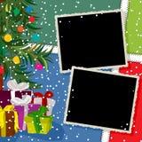 Collage de las vacaciones de invierno Imagen de archivo libre de regalías