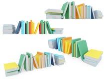 Collage de libros aislados Imágenes de archivo libres de regalías