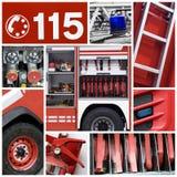 Collage de los bomberos Imagen de archivo libre de regalías