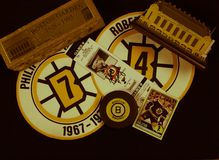 Collage de los Boston Bruins foto de archivo