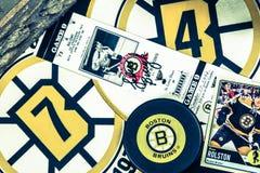 Collage de los Boston Bruins imágenes de archivo libres de regalías