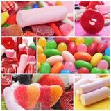 Collage de los caramelos Fotografía de archivo libre de regalías