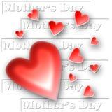 Collage de los corazones del día de madre fotos de archivo