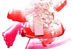 Collage de los cosméticos para hacer publicidad Imagen de archivo