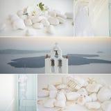 Collage de los detalles de la boda Foto de archivo libre de regalías
