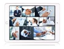 Collage de los equipos del negocio Imagenes de archivo