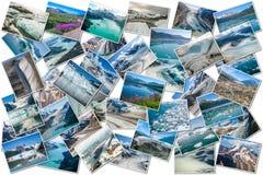 Collage de los glaciares de Alaska Imagen de archivo
