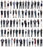 Collage de los hombres de negocios jovenes que se colocan en fila imagen de archivo libre de regalías
