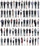 Collage de los hombres de negocios jovenes que se colocan en fila foto de archivo libre de regalías