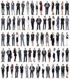 Collage de los hombres de negocios jovenes que se colocan en fila fotos de archivo libres de regalías