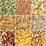 Collage de los ingredientes alimentarios Imagen de archivo libre de regalías