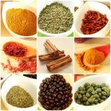 Collage de los ingredientes alimentarios Foto de archivo libre de regalías