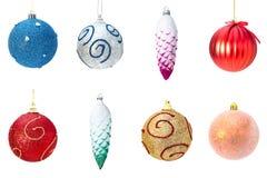 Collage de los juguetes de la decoración de la Navidad Imagenes de archivo