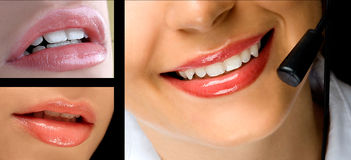 Collage de los labios fotos de archivo