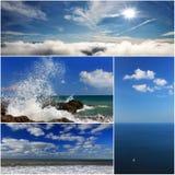 Collage de los paisajes del mar Fotografía de archivo libre de regalías