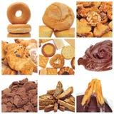 Collage de los pasteles fotografía de archivo libre de regalías