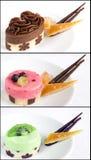 Collage de los pastelitos Foto de archivo