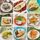 Collage de los pescados Fotos de archivo libres de regalías