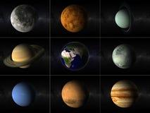 Collage de los planetas Imágenes de archivo libres de regalías