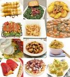 Collage de los platos cocinados Fotos de archivo libres de regalías