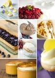 Collage de los postres Foto de archivo libre de regalías