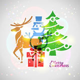 Collage de los símbolos de la Navidad con efecto de mezcla Fotografía de archivo libre de regalías