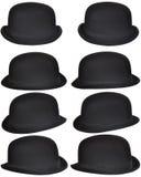 Collage de los sombreros de Derby imagen de archivo