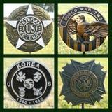 Collage de los veteranos de Estados Unidos fotos de archivo libres de regalías