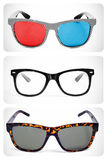 Collage de lunettes Photo stock