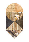 Collage de mármol abstracto Imagenes de archivo