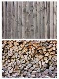 Collage de madera de la textura del fondo Foto de archivo