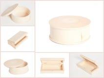 Collage de madera de la caja de joyería Imagenes de archivo