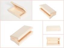 Collage de madera de la caja de joyería Imágenes de archivo libres de regalías