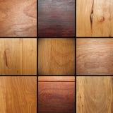 Collage de madera real de la chapa Imágenes de archivo libres de regalías