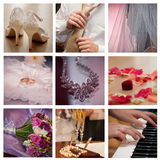 Collage de mariage images stock