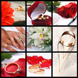 Collage de mariage Photos libres de droits