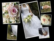 Collage de mariage Photo libre de droits