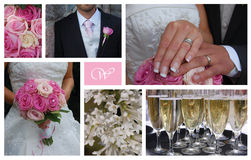 Collage de mariage Image stock