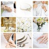 Collage de mariage Photo stock
