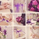 Collage de mariage dans le style de vintage Image stock