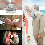 Collage de mariage de plage Image libre de droits