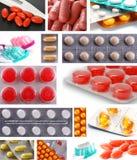 Collage de medicinas Imagen de archivo
