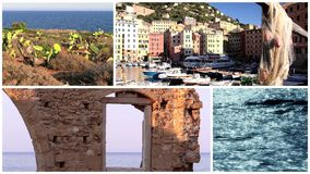Collage de Mediterraneo almacen de video