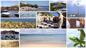 Collage de Mediterraneo almacen de metraje de vídeo