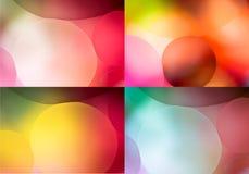 Collage de 4 milieux colorés multi photo stock