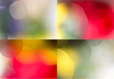 Collage de 4 milieux colorés multi Photos stock