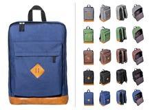Collage de mochilas Imagen de archivo