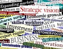 Collage de mot d'affaires
