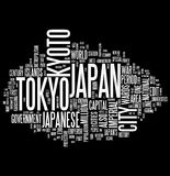 Collage de mot du Japon Image stock