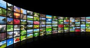 Collage de muchas fotos Imagenes de archivo